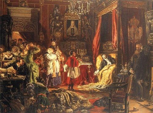 Śmierć Zygmunta Augusta w Knyszynie