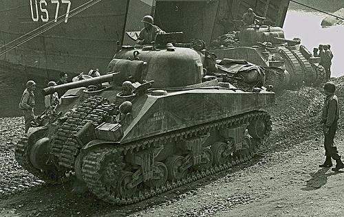 Sherman VI korpusu V Armii Amerykańskiej w Anzio