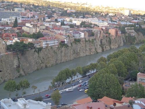 Tbilisi - widok z góry