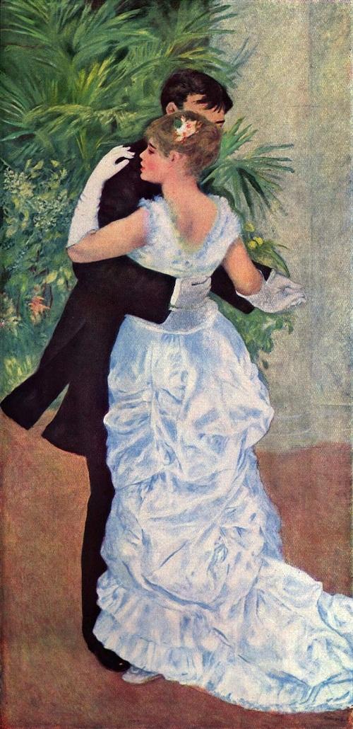 53-Portrait de suzanne_valadon,pierre_auguste_renoir_Dance in the city-1882-83-Valadon and Eugene Pierre Lestringuez, by Renoir, 1883