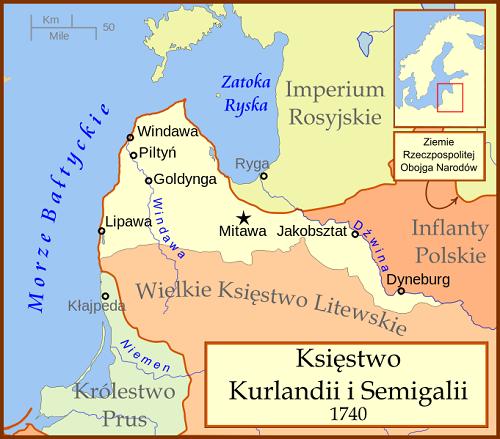 Księstwo Kurlandii i Semigalii w 1740 roku
