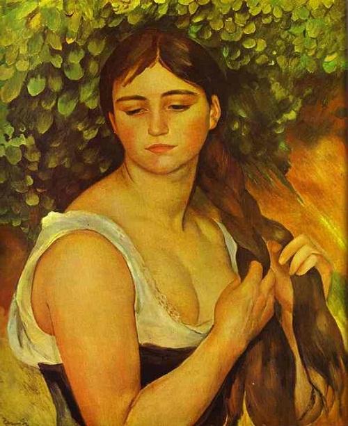 Pierre-Auguste_Renoir_-_Girl_Braiding_Her_Hair_(Suzanne_Valadon)
