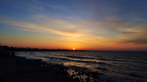 Zachód słońca nad Alexandrią