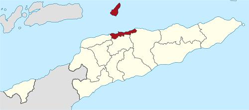 mapa Timoru Wschodniego
