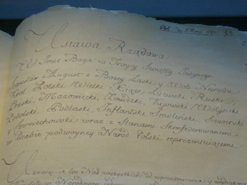 Oryginał Konstytucji 3 Maja