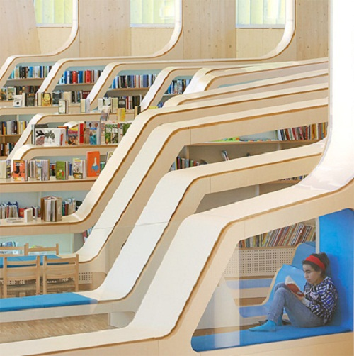 nowoczesna biblioteka w Norwegii