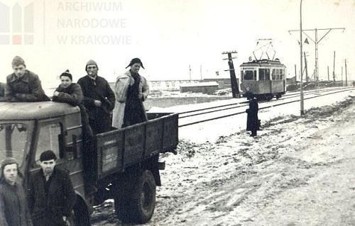 1960 rok, otwarcie linii tramwajowej na Wielickiej