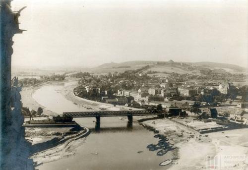 Widok z Wawelu 1920 rok