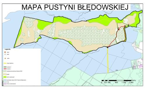 Mapa Pustyni Błędowskiej