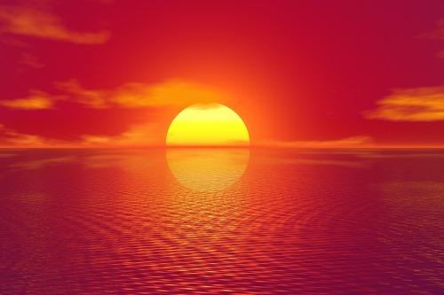 Zachód słońca w Indiach