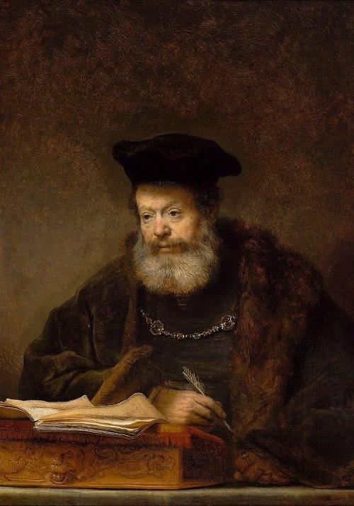 Rembrandt Uczony przy biurku